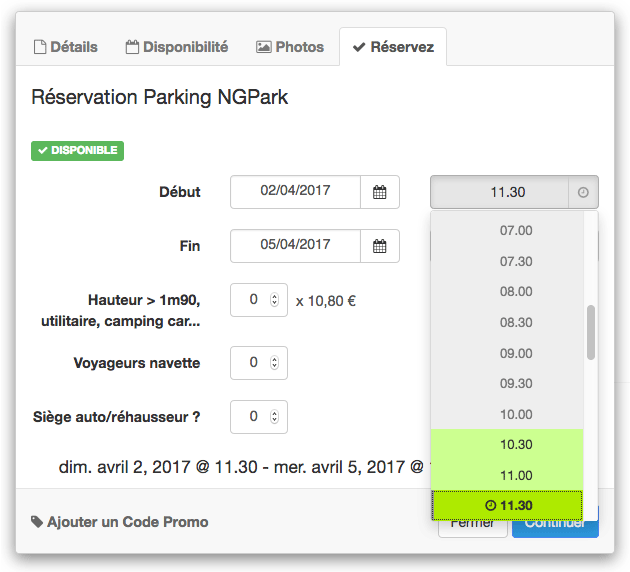 reservation parking aeroport nantes